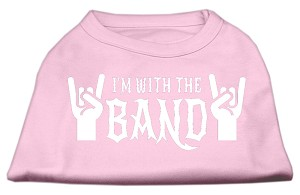 With the Band Screen Print Shirt Light Pink XL (16)